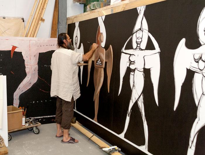 Marian Zidaru, pictând