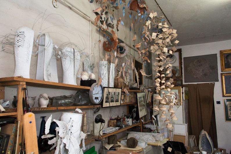 Atelierul artistului Maria Cioată
