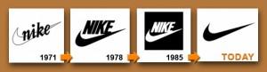 Evoluţia logo-ului Nike, 1960 - prezent