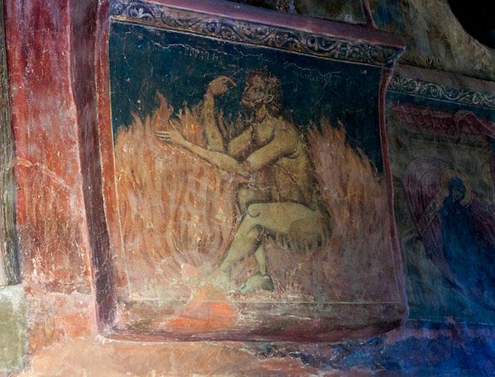 Nebunul în flăcări, frescă după pilda bogatului nebun