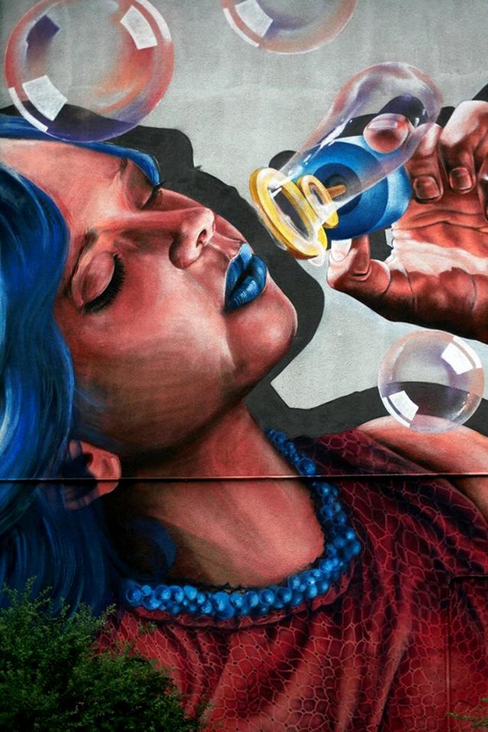 Mural de la Street ART Festival din Sibiu, al celor de la Sweet Damage Crew