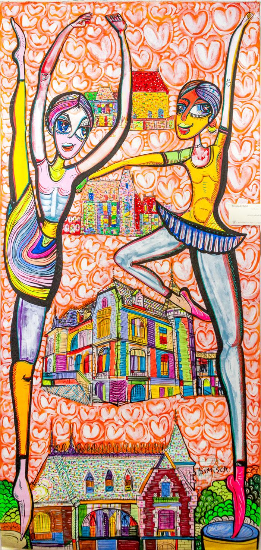 Exemplu de artă brută - Casa Niculescu Dorobanțu din București, pictură de Laurențiu Dimișcă