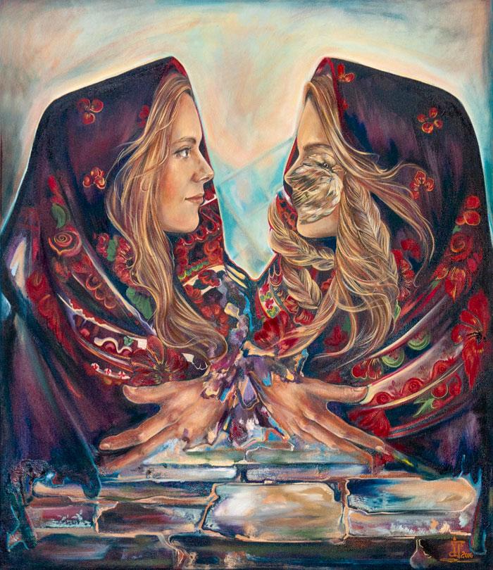 """Aripile din priviri"", tabloul de suflet al Ioanei"