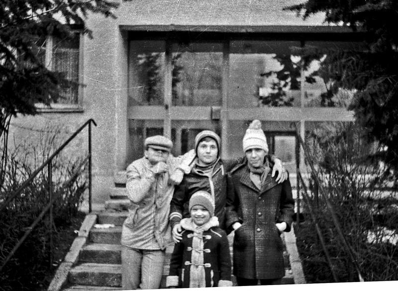 Cea mai veche fotografie a lui Andrei Bîrsan (1980): Tinel, Romică, Mihăiță și Marinel, fratele lui Tinel