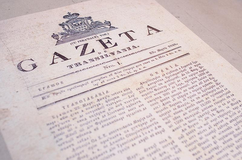 Gazeta de Transilvania, primul ziar în limba română al zonei