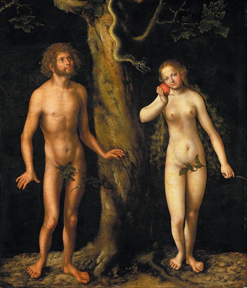 Lucas Cranach cel Bătrân, Adam şi Eva (1508-1512)