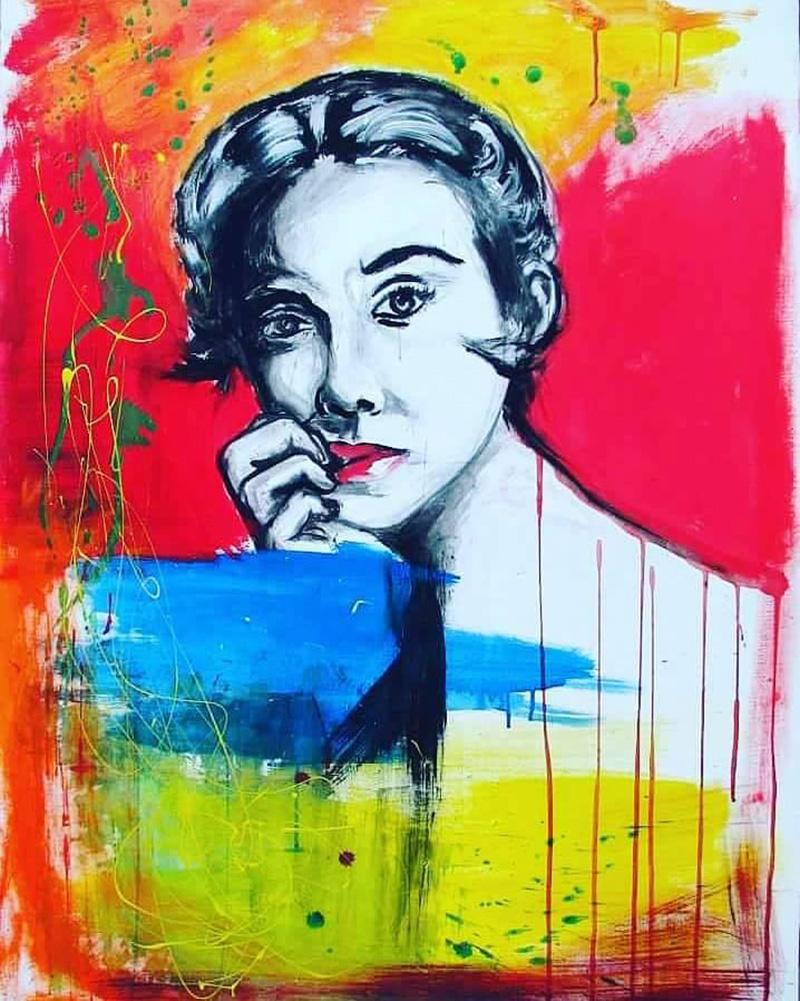 Culorile drapelului României sunt des întâlnite în lucrările pictoriței din Braşov