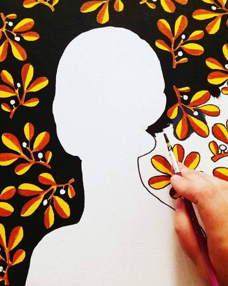 Pictură în lucru
