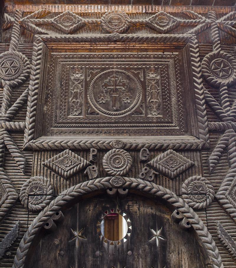 Poarta de lemn a lui Pop Gheorghe din Sat-Şugatag (detaliu)
