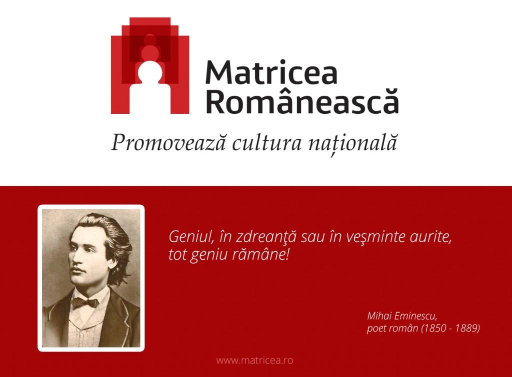 """Mihai Eminescu: """"Geniul, în zdreanţă sau în veşminte aurite, tot geniu rămâne!"""""""