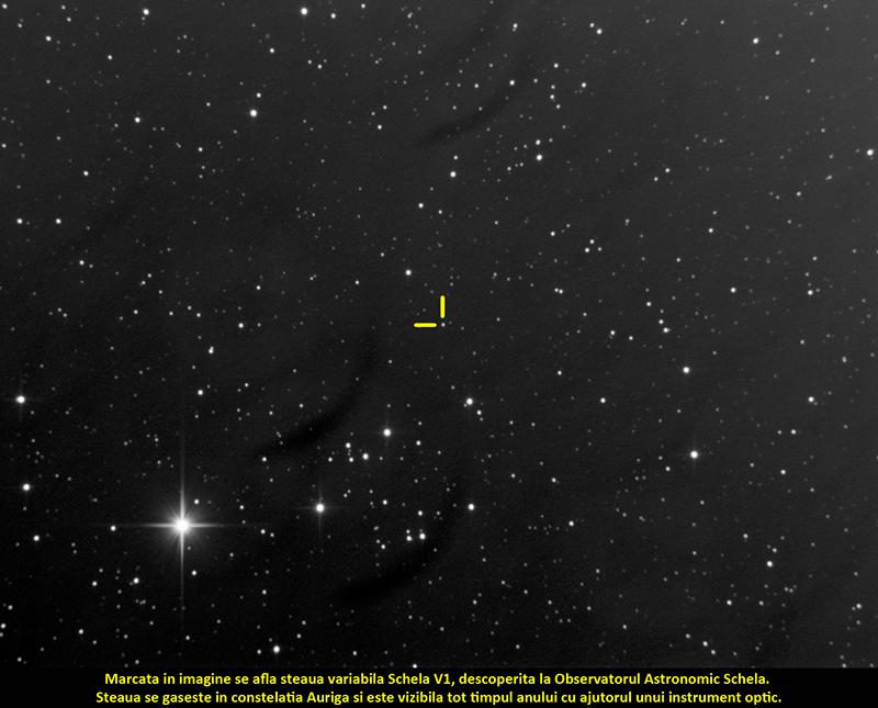 Steaua Schela V1, descoperită de către Andrei-Marian Stoian din Galați, cel mai tânăr descoperitor din România