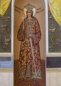 Stefan cel Mare si Sfant in Biserica Albastra din Chisinau
