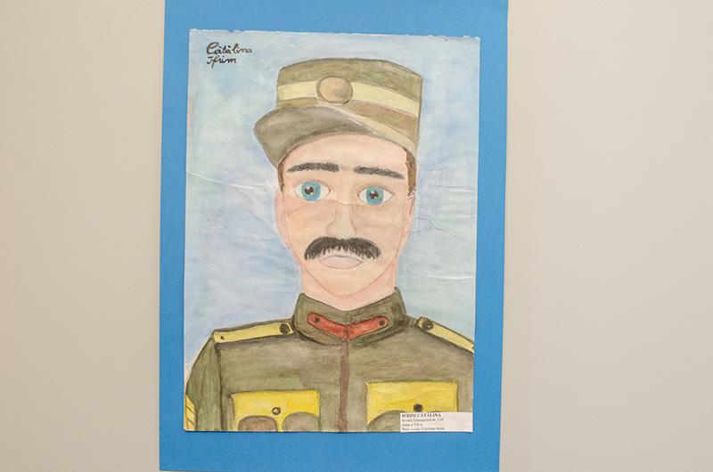 Soldatul român, desenat de către Cătălina Ifrim (13 ani)