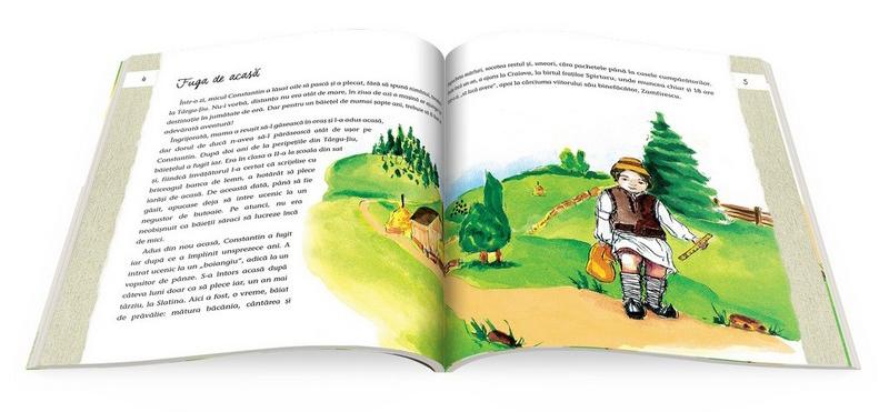 """Interior din cartea """"Cunoaște-l pe... Constantin Brâncuși"""""""