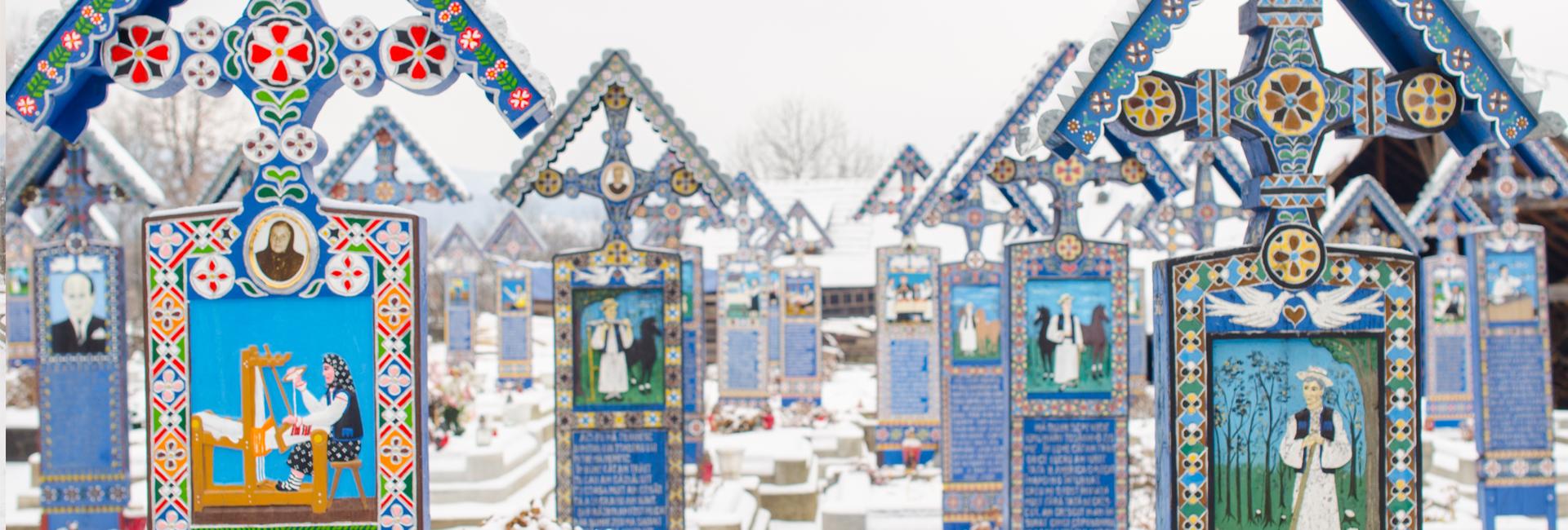 Probabil cel mai frumos cimitir din lume: Cimitirul Vesel din Săpânţa, Maramureş, România