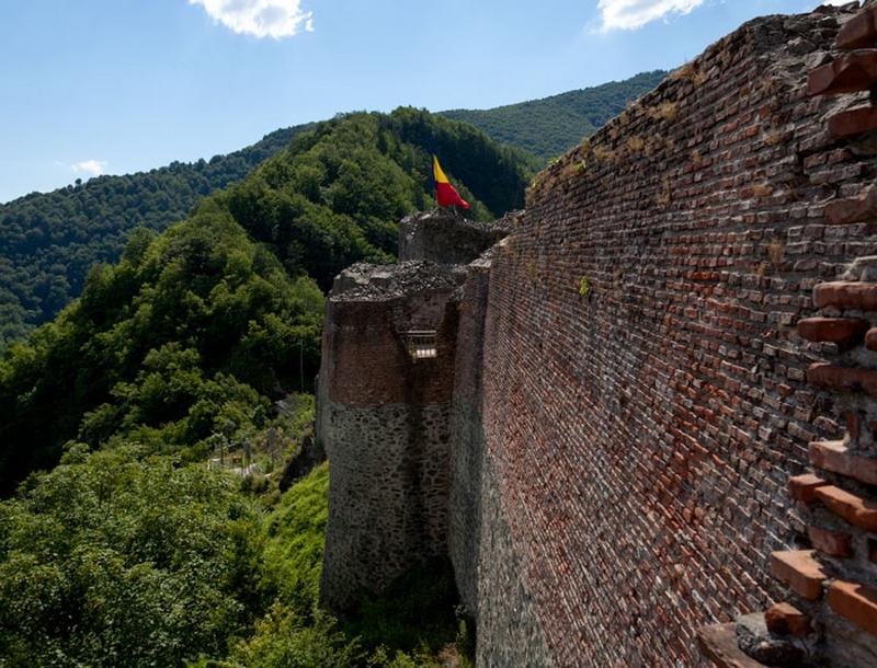 Peisajul din vârful Cetății Poenari este copleșitor