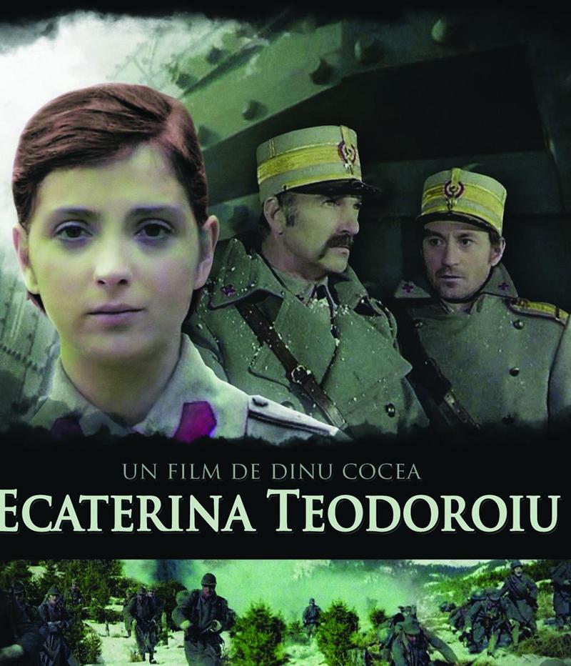 """Afișul filmului """"Ecaterina Teodoroiu"""" (1978), povestea războinicei din Armata Română, regizat de Dinu Cocea"""