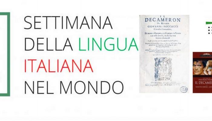 Eveniment Institutul Italian de cultură Săptămâna limbii italiene Decameron Boccaccio slider
