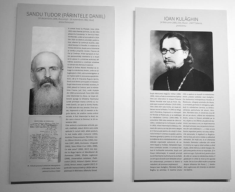 Părintele Daniil Sandu Tudor (stânga) și Părintele Ioan Kulâghin (dreapta), inițiatorii mișcării Rugul Aprins din România, rămași în istorie ca victime ale prigoanei anticreștine din comunism