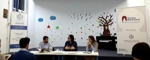 Cristina Cazan și Corina Moisei, alături de Mircea Stanciu, în dezbateri despre istorie și spiritualitate la Liceul Pedagogic Anastasia Popescu