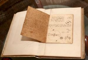 Manuscrisul lui Da Vinci - una din cele mai vechi exponate din fondul patrimonial de carte, expus în Biblioteca Aman din Craiova