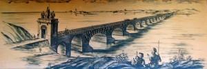 Podul lui Traian, construit de Apolodor la Drobeta, aşa cum va fi fost el Ilustraţie: flickr.com