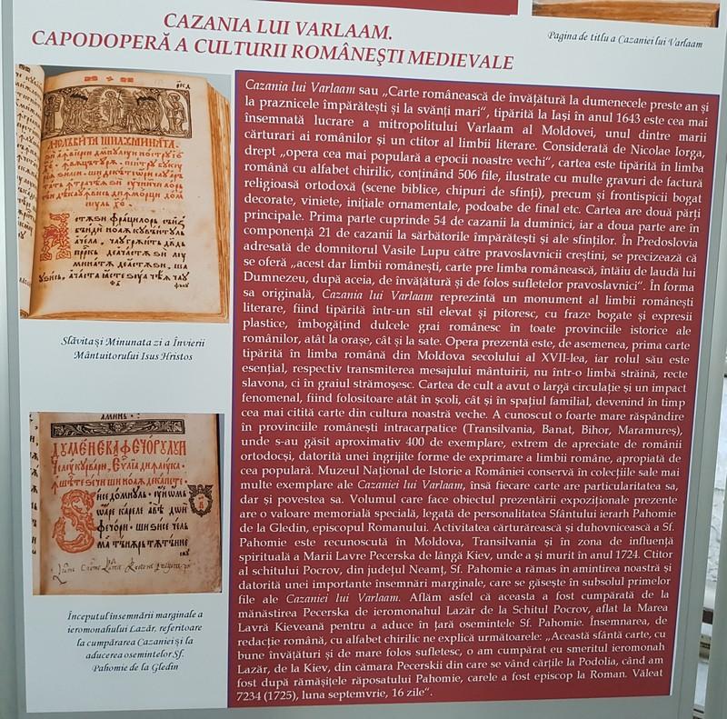 expoziţie MNIR Cazania lui Varlaam limba română Evul Mediu a dus românii spre Marea Unire interior 1