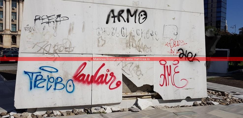 eroi Revoluţie Bucureşti profanare Memorialul Renaşterii (14)