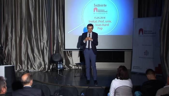profesorul Ioan-Aurel Pop preşedintele Academiei Române la Întâlnirile Matricei mai 2018 vorbă Inochentie-Micu Klein pământul patriei slider