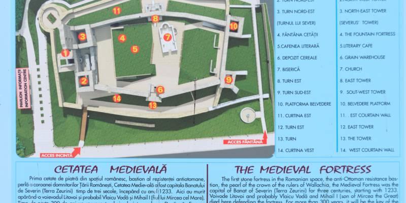 România100 Severin cetate medievală gresie Litovoi planul cetăţii