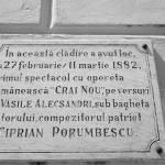 a renăscut Braşovul România centenară Ciprian Porumbescu placă