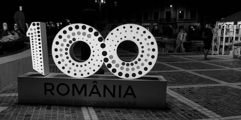 a renăscut Braşovul România centenară logo
