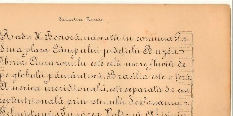 Caligrafie Radu Bocioacă învăţător Padina-Macoveiul discipol Spiru Haret generaţie Marea Unire