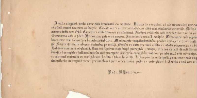 formă clasică de caligrafie Radu Bocioacă învăţătorul din generaţia Marii Uniri România Mare