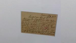 Carte postala veche de 101 ani