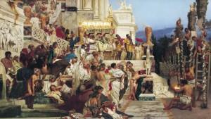 Persecutarea creștinilor de către Nero. Pictură de Henryk Siemiradski, 1876