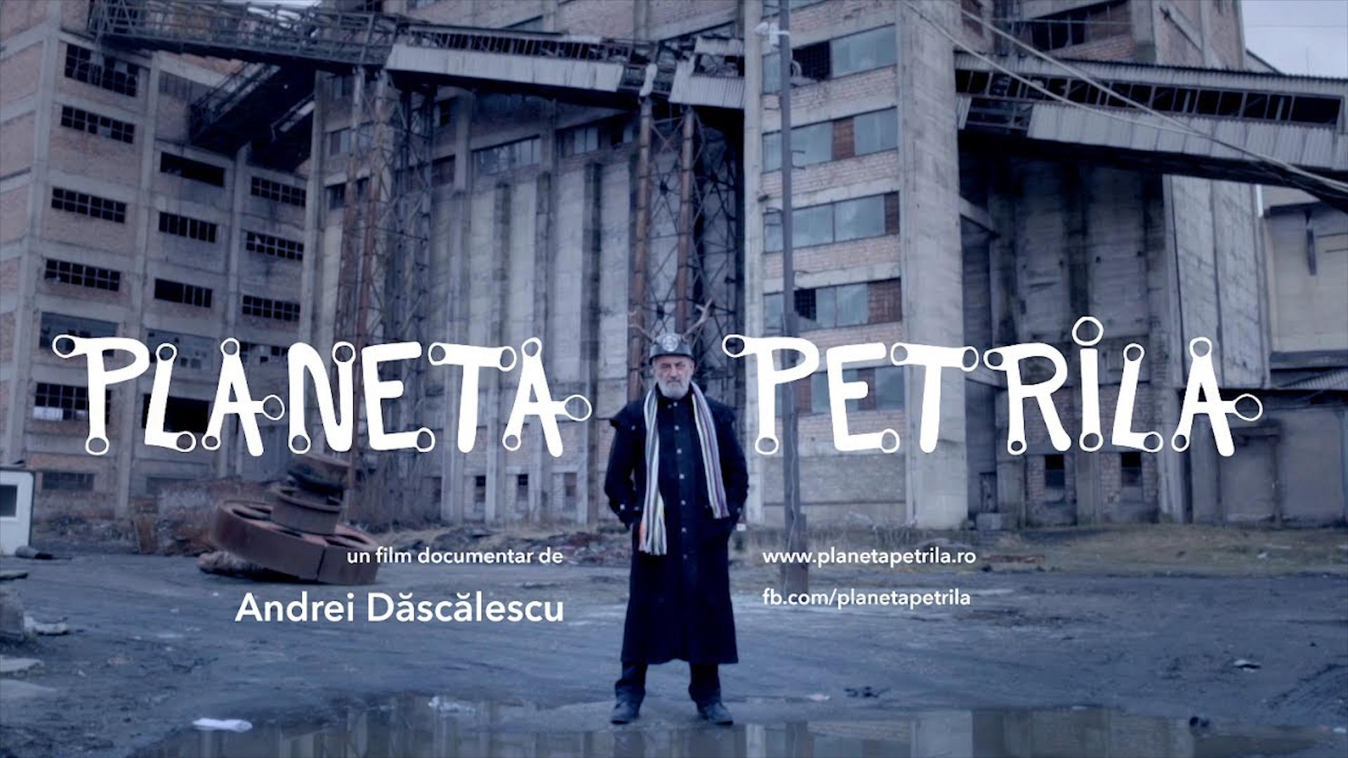Afișul filmului documentar Planeta Petrila, de Andrei cosmescu, care transformă orașul minier într-o revelație