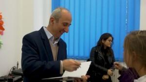 Profesorul Ion-Ovidiu Pânișoară, la finalul conferinței despre comunicare și emoții