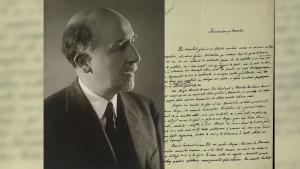 Manuscrisul lui Sextil Pușcariu, aflat la Biblioteca Națională a României
