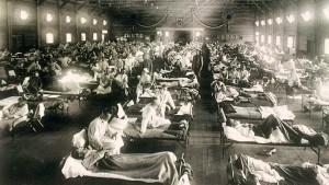 Spital pentru tratarea gripei spaniole. Credit foto: Wikimedia
