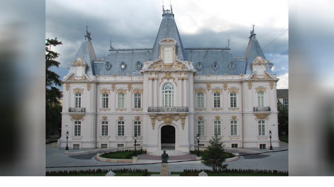 Palatul comandat de Constantin Dinu Mihail în stil neogotic, după planurile arhitectului francez Paul Gottereau