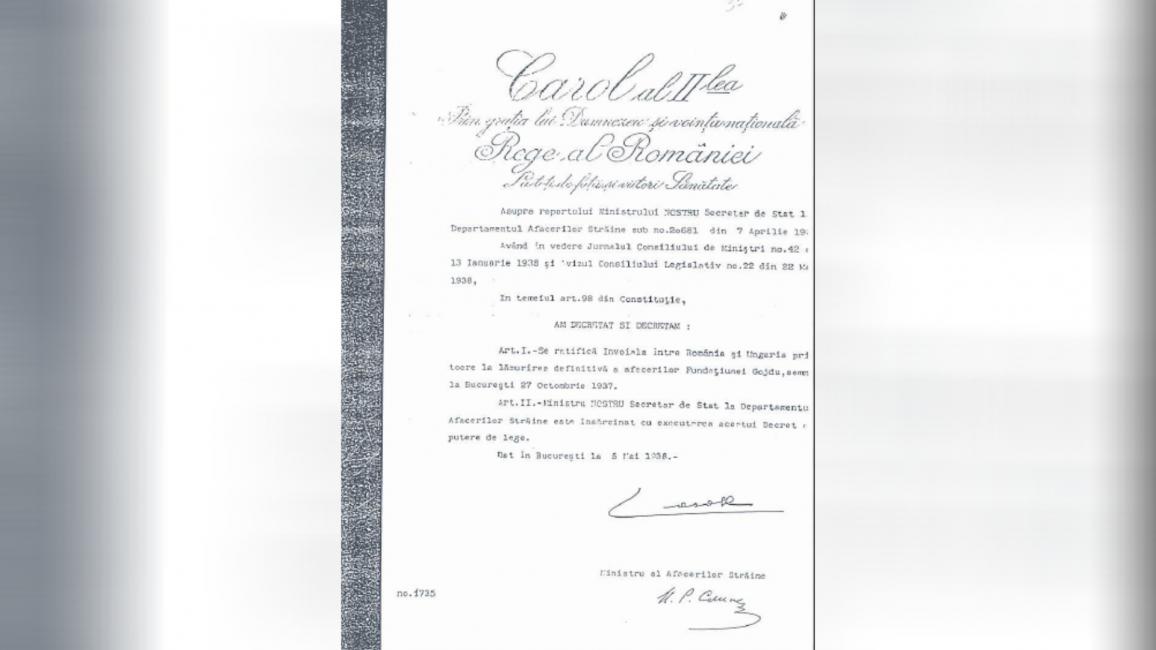 Acordul româno-maghiar privind afacerea Gojdu din 1937