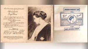 Ciocolată și unt cu chipul Regiei Maria din 1924