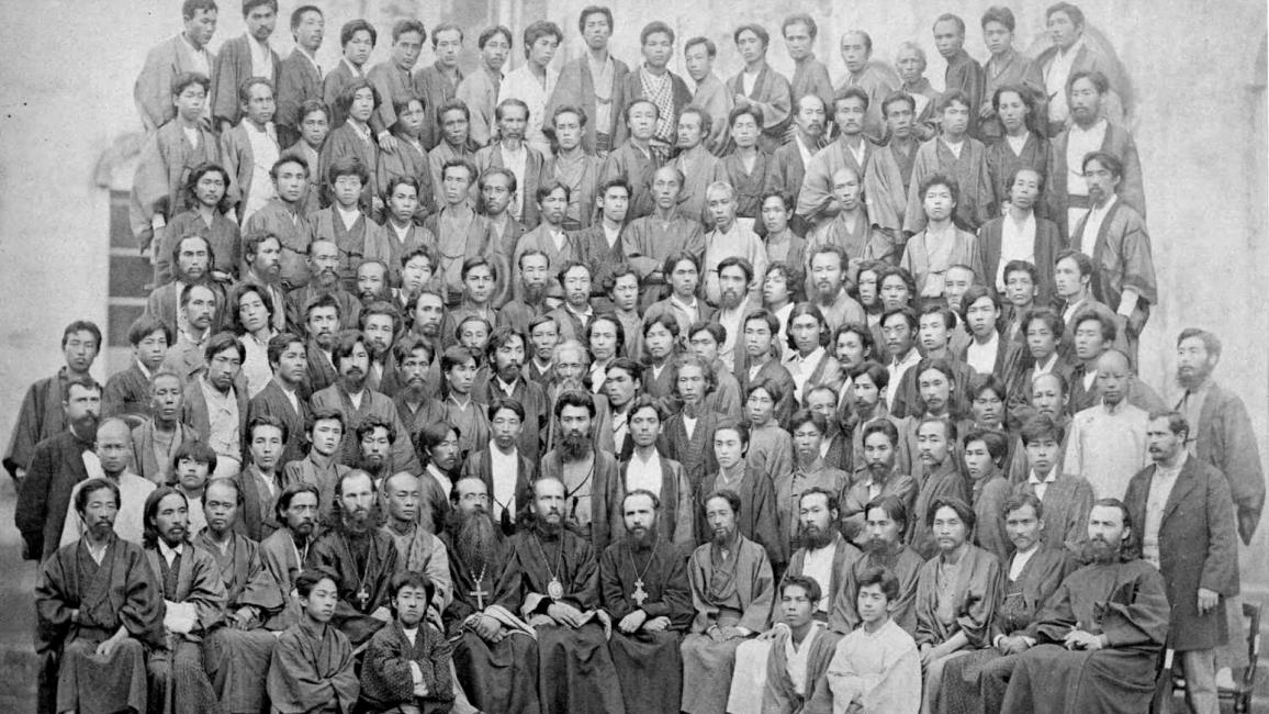 În 1882, părintele Mitrofan participă la Consiliul Clericilor. Al șaselea din stânga, rândului doi