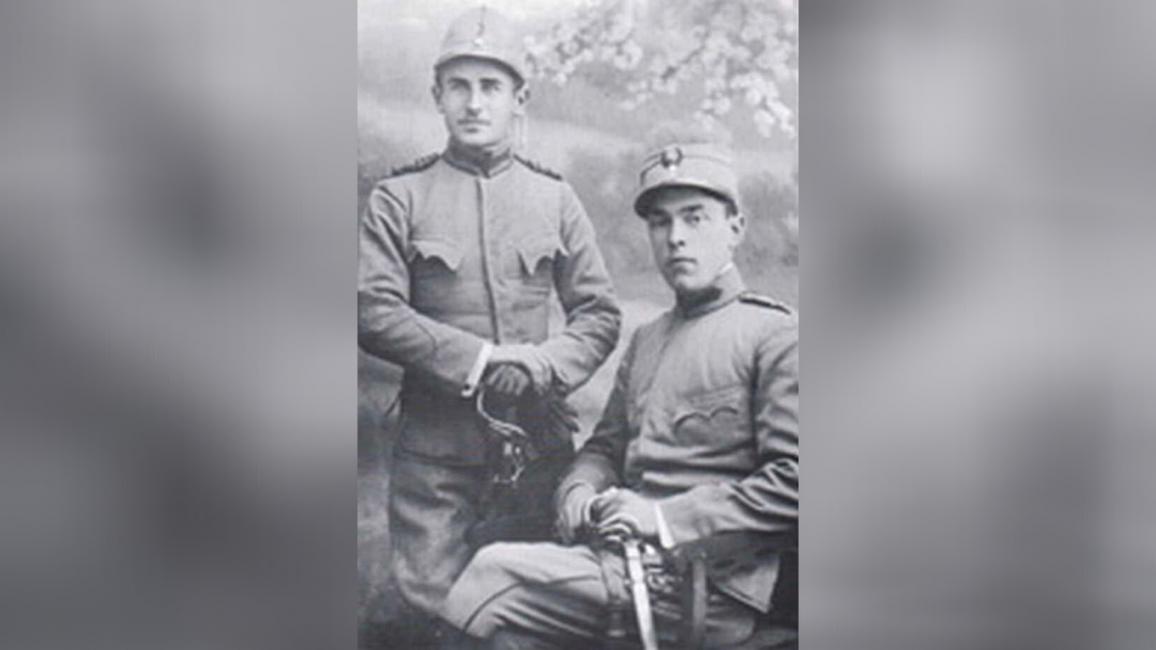 Aurelian Bentoiu (dreapta) în timpul războiului