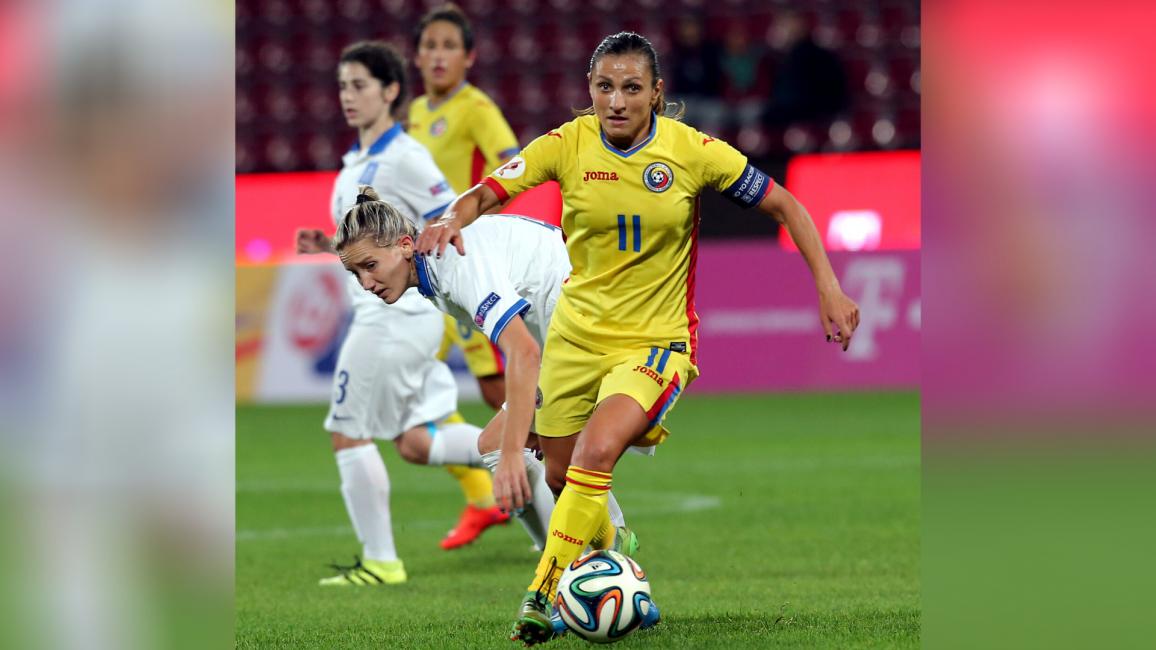 Florentina Olar=Spânu, căpitanul echipei naționale de fotbal femininc