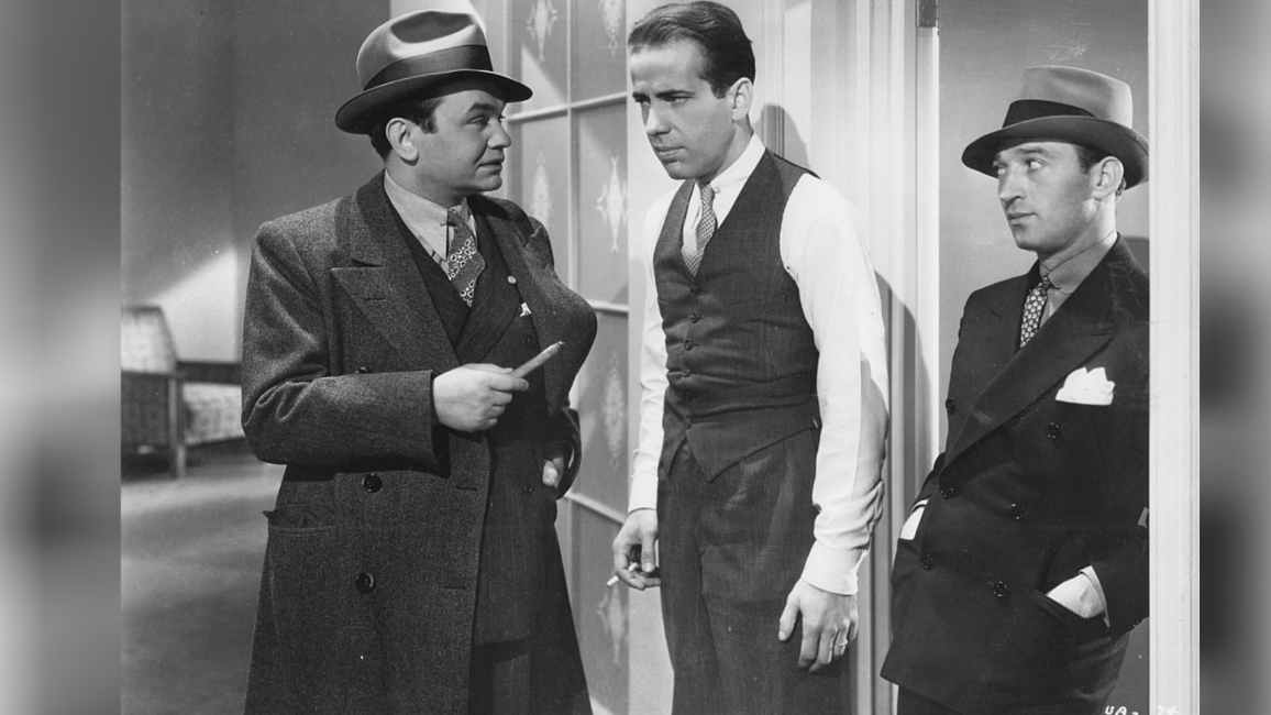 Edward G. Robinson, Humphrey Bogart and George E. Stone în filmul Bullets or Ballots (1936)