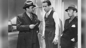 Edward G. Robinson, Humphrey Bogart and George E. Stone în filmul  Bullets or Ballots (1936)