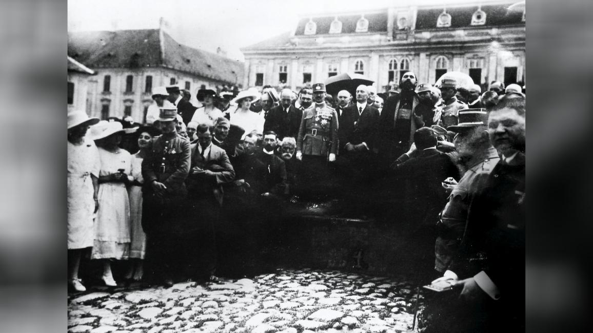 Imagine de la înmormântarea lui Aurel Cosma