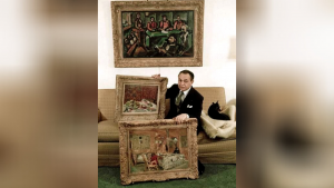 Robinson și câteva tabloruir din colecția sa